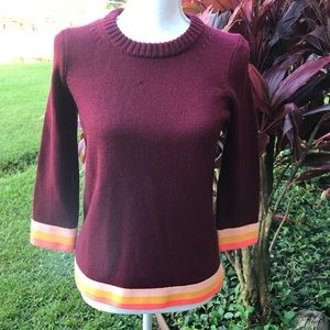 Beautiful Ron burgundy j crew sweater